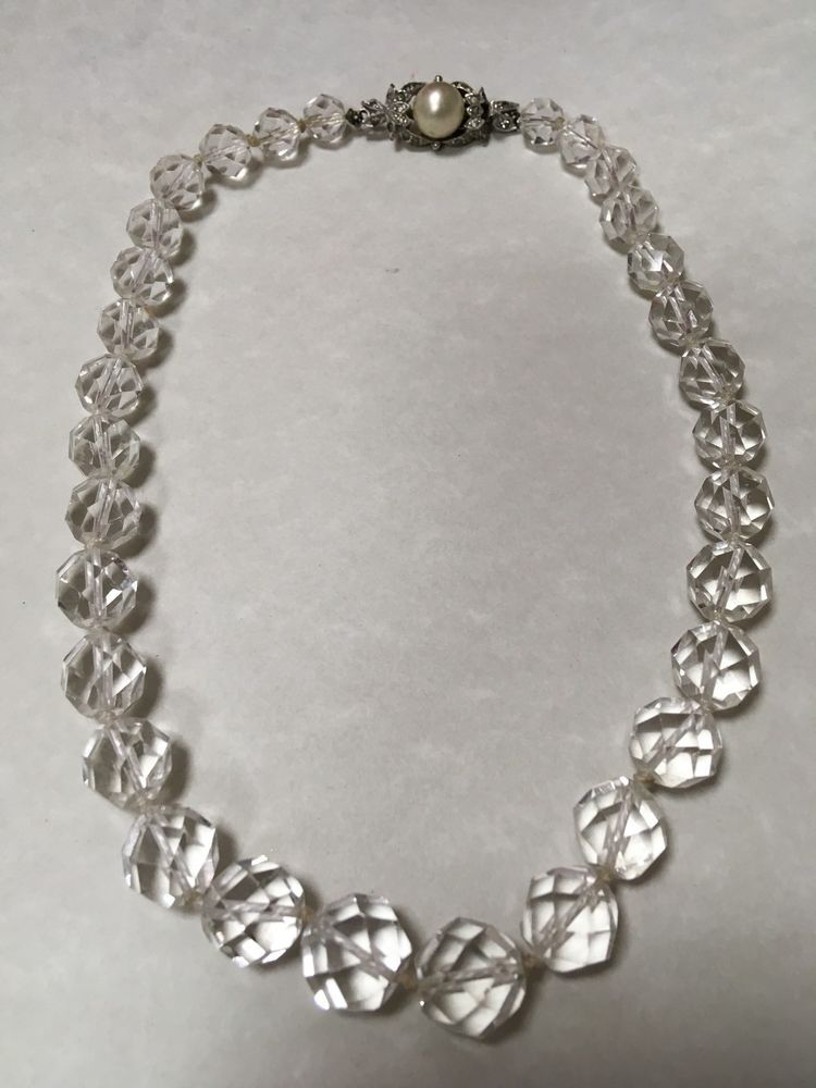 Vintage Austrian Crystal Necklace SALE   eBay   Austrian ...