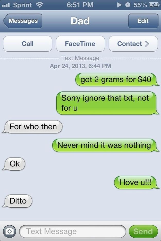 What Happens If You Text Your Parents Pretending To Be A Drug - 18 parents trolling their kids