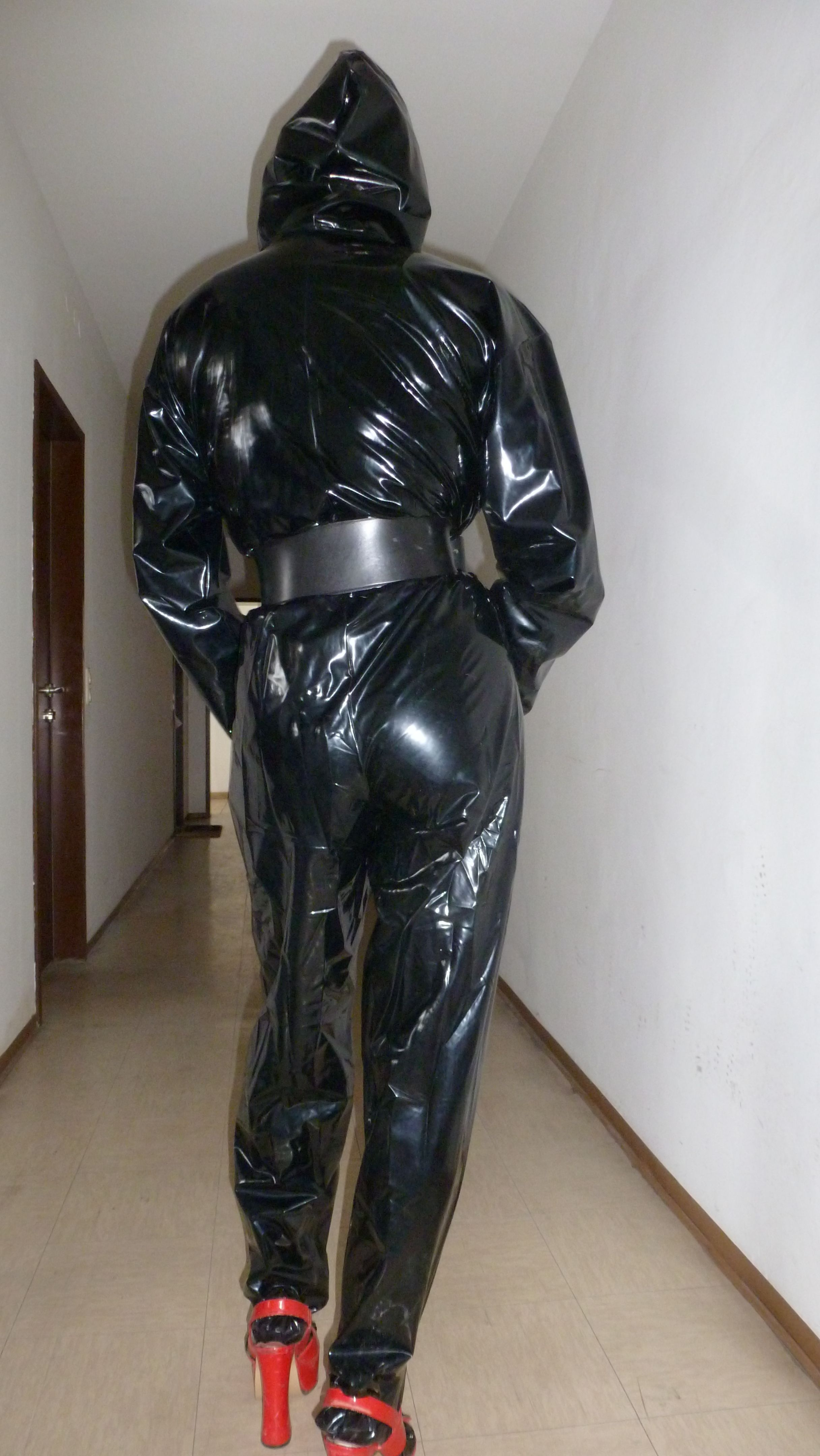 pvc-overall   eigene   Pvc raincoat, Leather Pants und ...