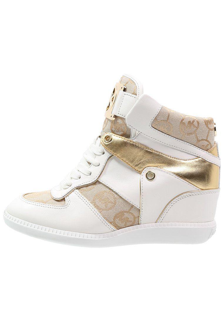 b4d5ff81876 MICHAEL Michael Kors NIKKO - Sneakers hoog - beige/camel/gold - Zalando.nl