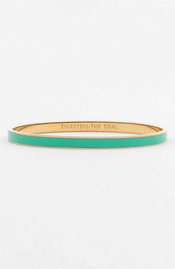 1648acd9a kate spade new york 'idiom' ultra thin enamel bangle | Nordstrom $32 ...