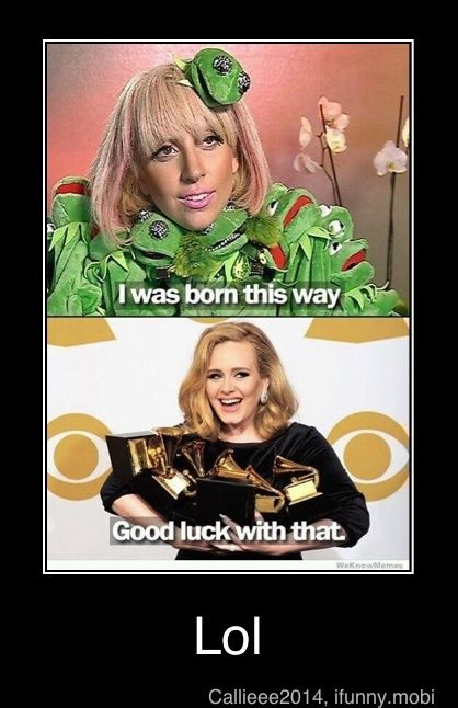 GaGa vs Adele --- I love them both but...