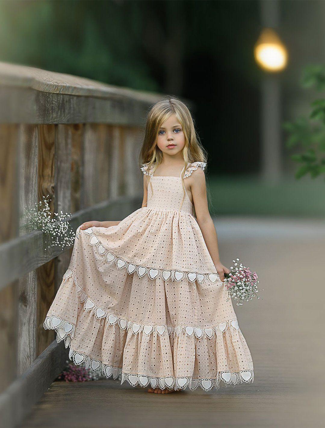 Charm me frock flower girl dresses boho little girl