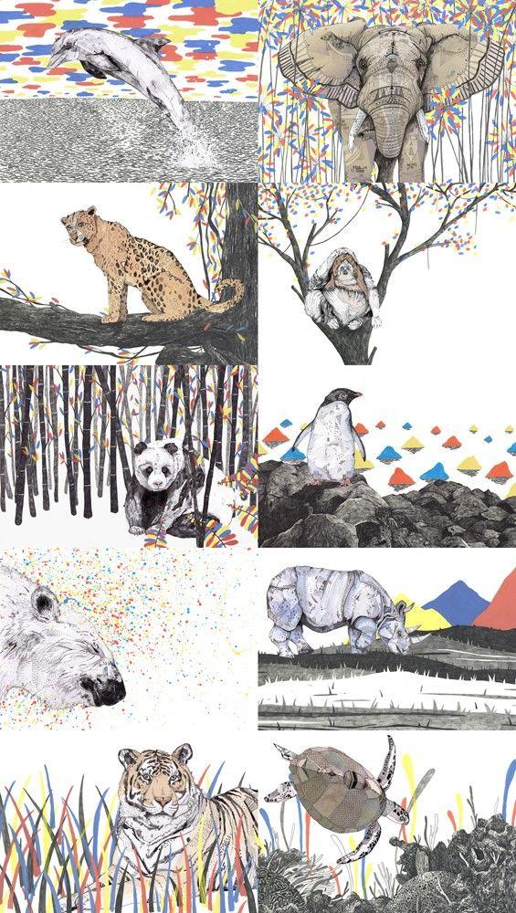 I especially like the Panda and Polar bear prints. These
