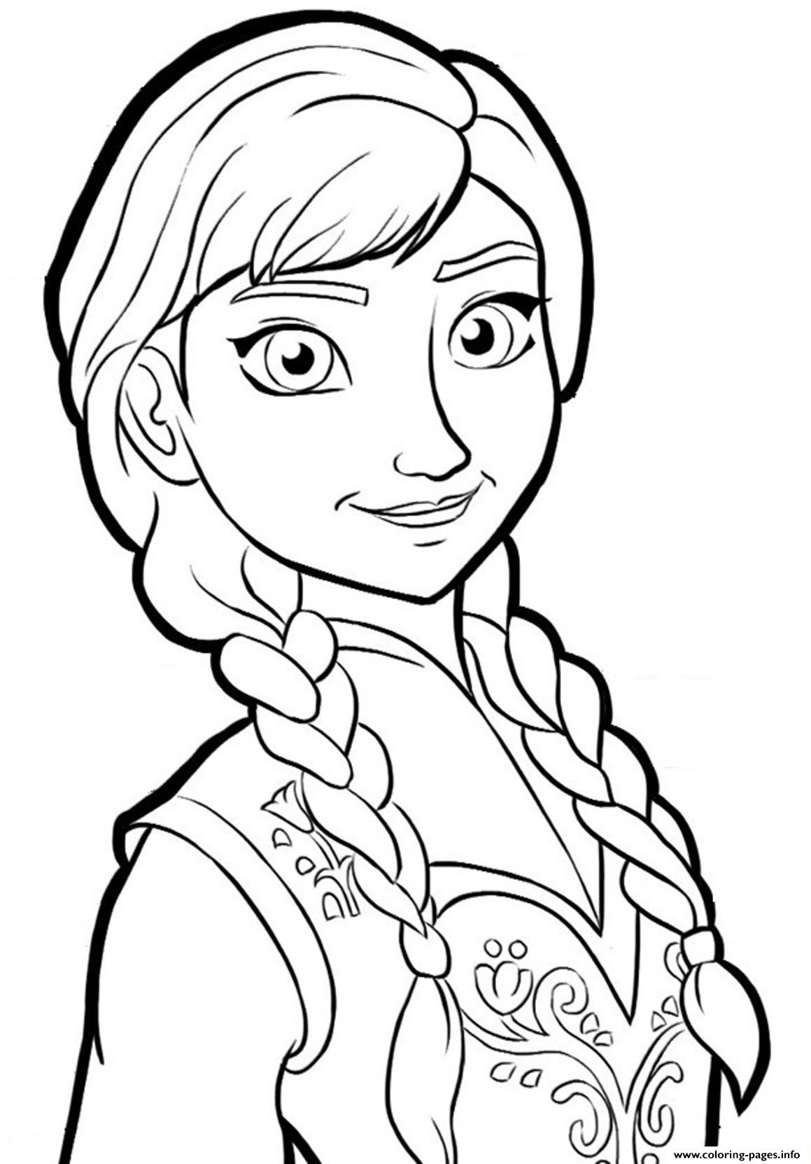 Print anna frozenb825 coloring pages | Frozen | Pinterest | Anna ...