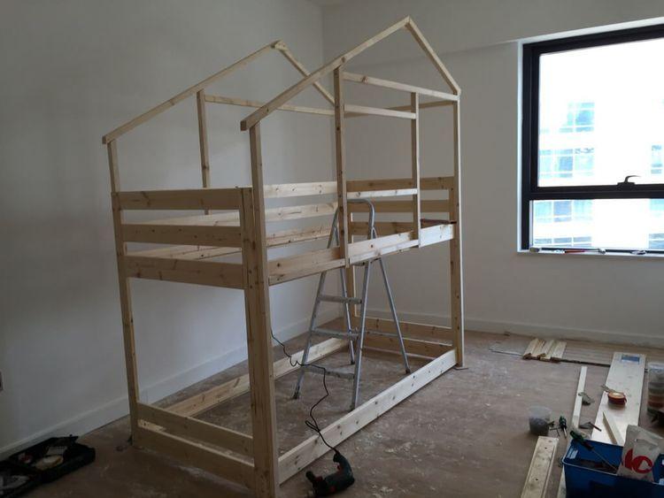 Make An Indoor Playhouse Bunk Bed Ikea Mydal Hack Ikea Hackers