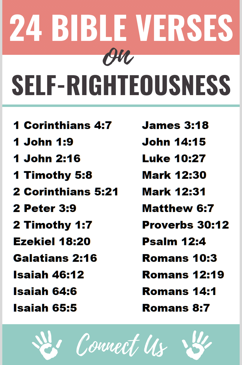 25 Important Bible Scriptures on Self-Righteousness