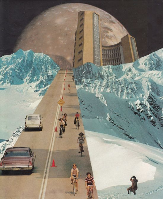 Creating Surreal and Retro-Futuristic Worlds Karen Lynch Using old school…                                                                                                                                                                                 More