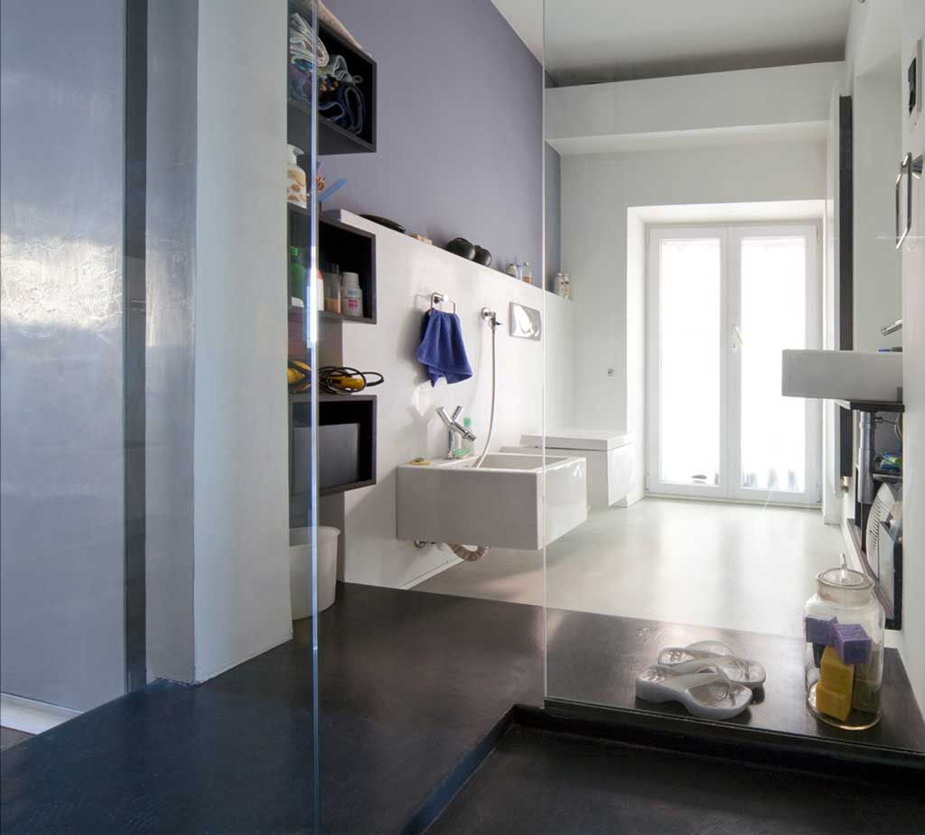 pavimento bagno e parete doccia in resina spatolata  bagno resina e microcemento  Pinterest ...