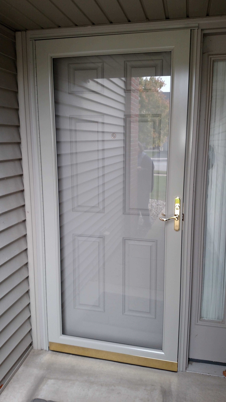 Preferred Window And Door Storm Door Exterior Front Doors Painted Storm Door Window Installation
