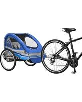 Schwinn Trailblazer Bicycle Trailer - Blue/ Gray (Double), Blue/Gray