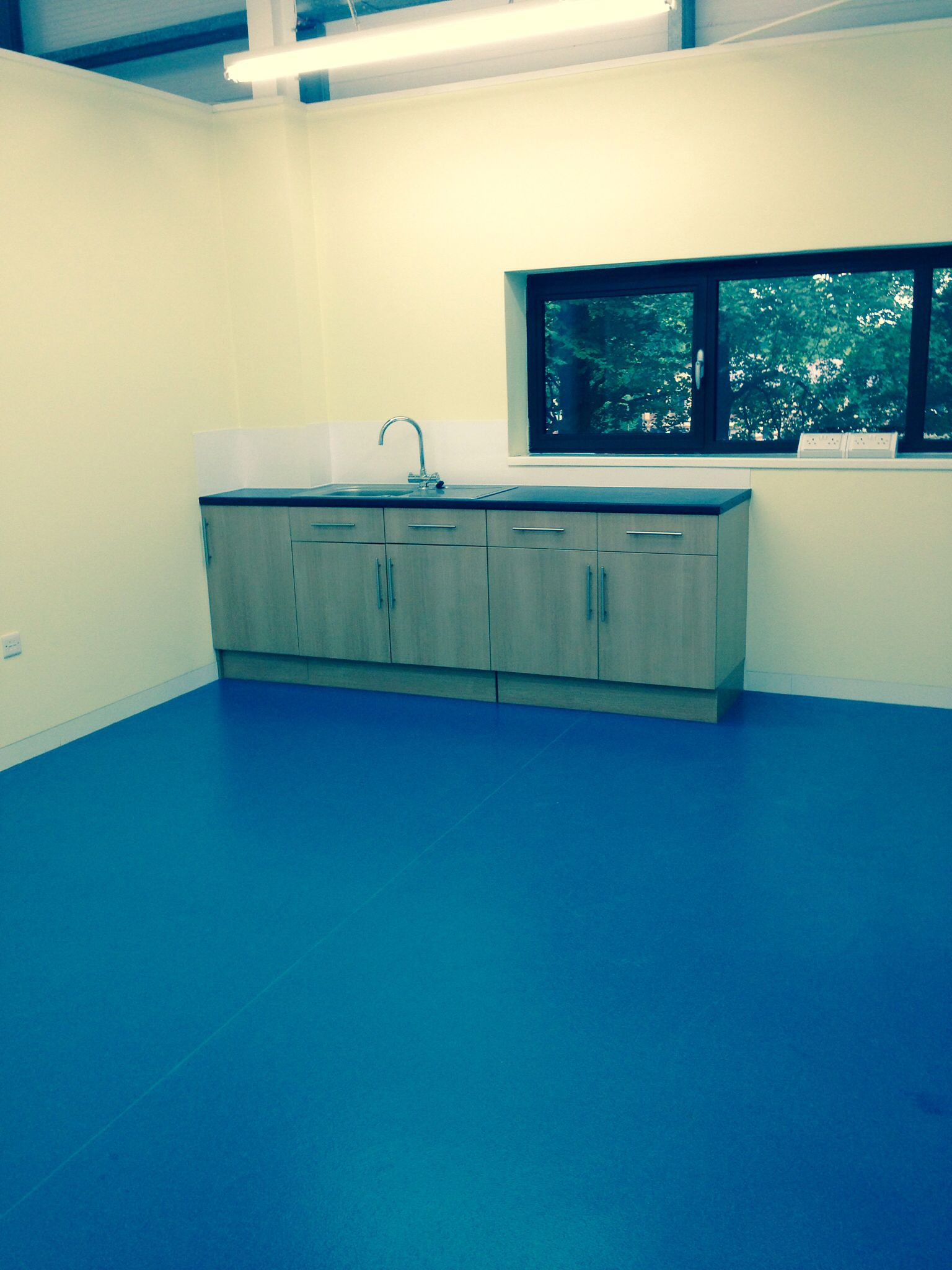 Polyflor vinyl flooring and in