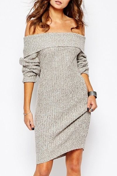 Sweater Dresses | Black, Oversized & Off The Shoulder Sweater Dresses #sweaterdressoutfit