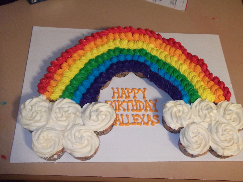 Rainbow Cupcake Birthday Cake