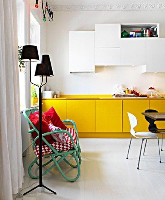 Yellow Kitchen Storage: 10 X Je Interieur Opfrissen Met De Kleur Geel