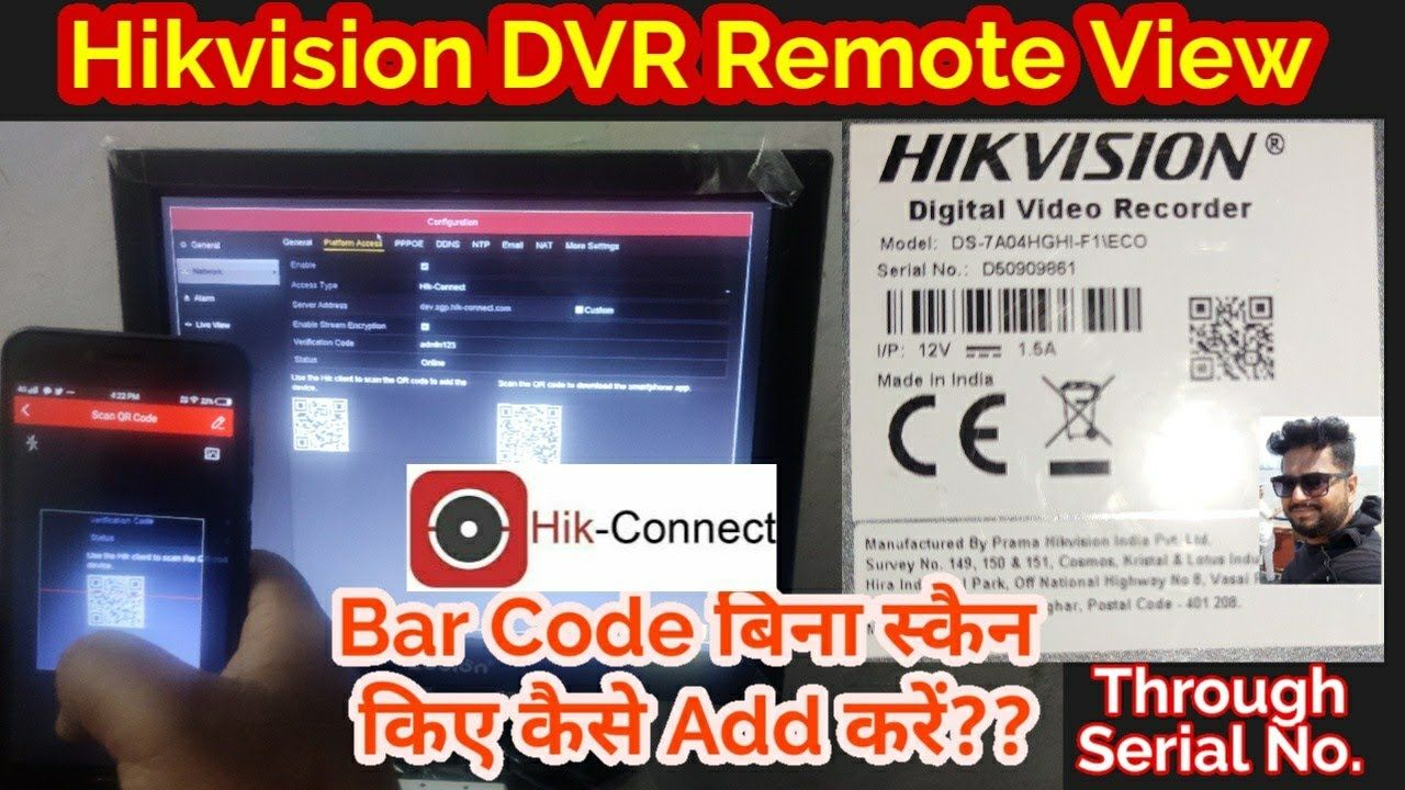 Hikvision DVR Remote View Through Serial Number