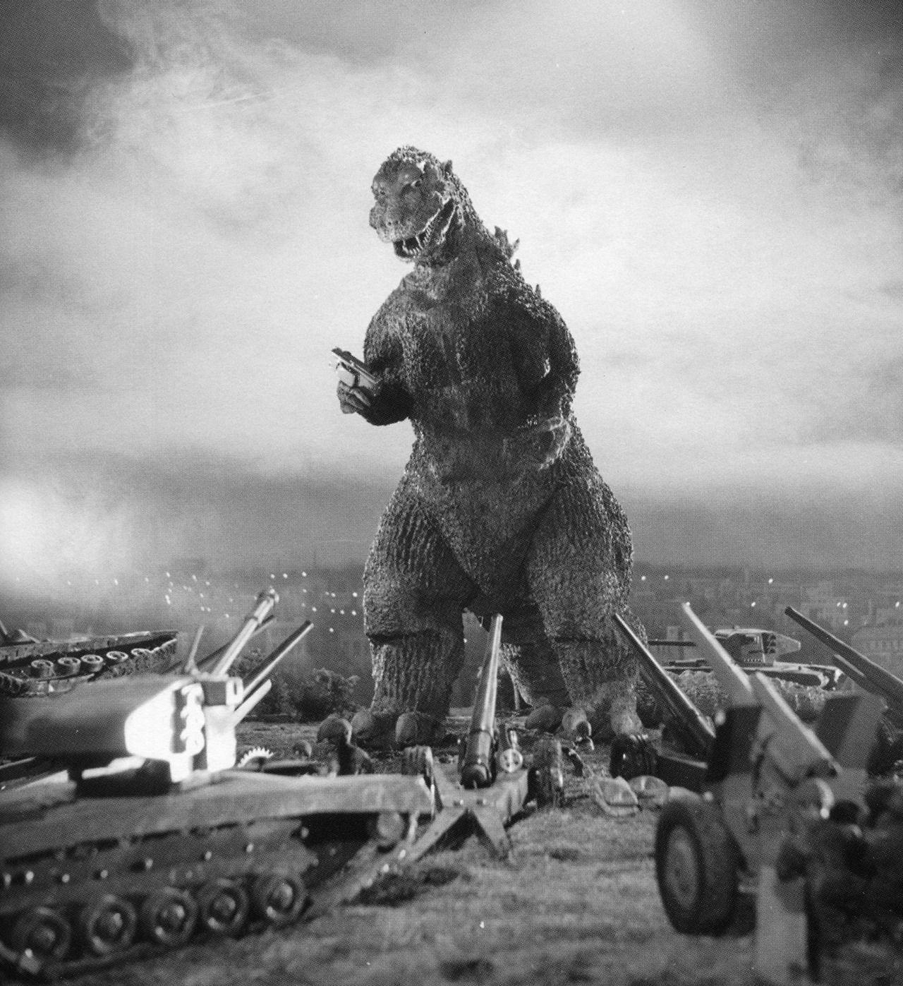"redarmyscreaming: ""Gojira (1954) "" | Godzilla, Galloping ..."