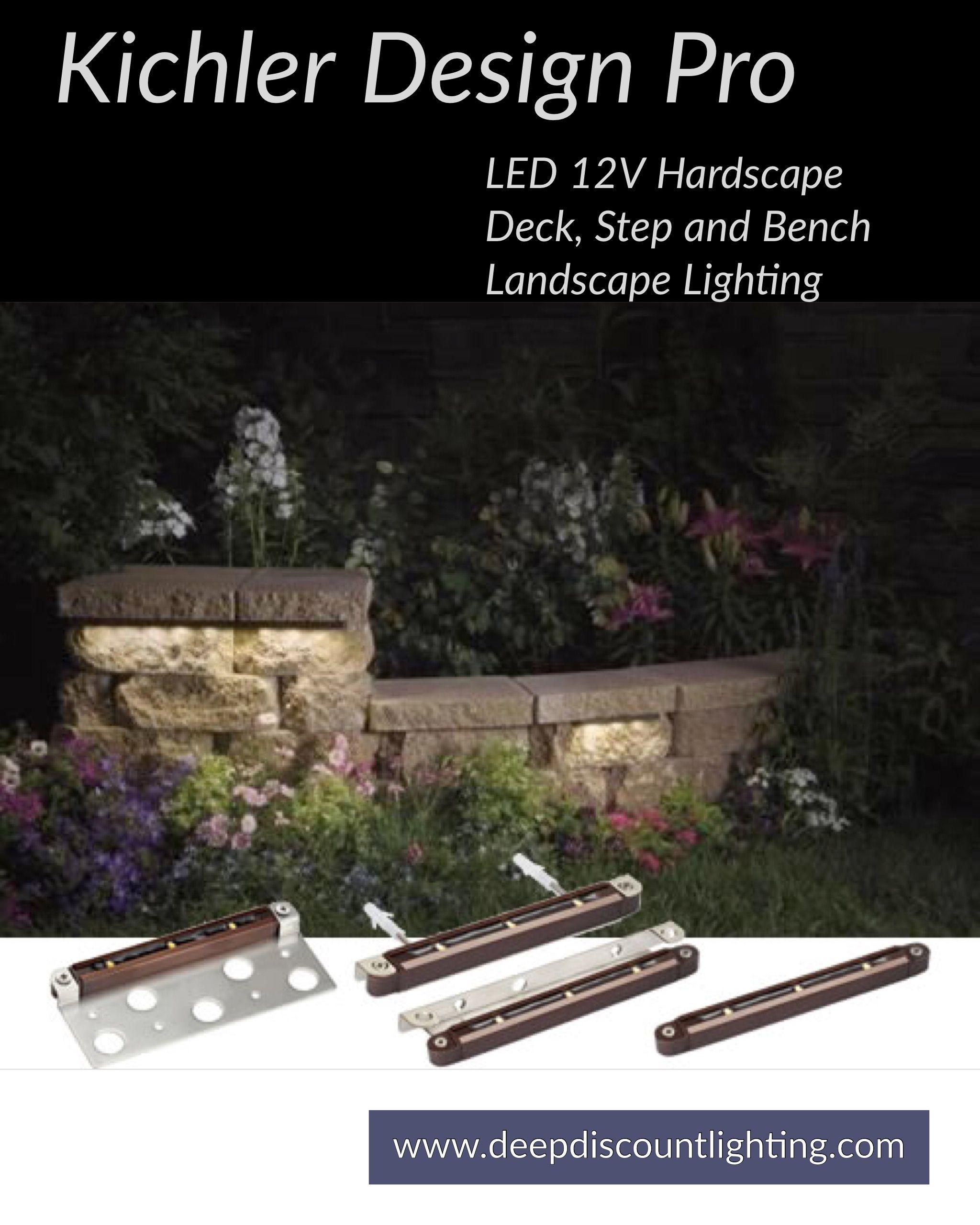 kichler led landscape lighting retaining wall ready to install kichler design pro led 12v hardscape deck step and bench landscape lighting