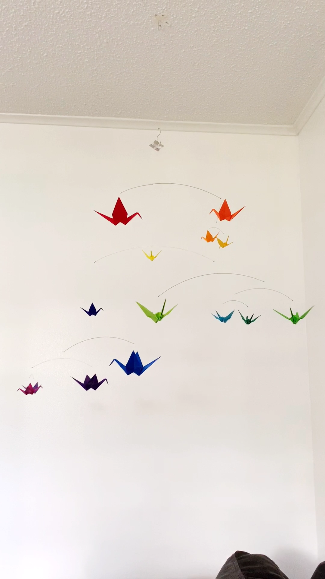 Rainbow Origami Paper Crane Mobile -  Handmade Origami Mobile by The Timeless Crane. baby boy nursery, baby girl nursery, baby room art,  - #crane #decorationdiy #diyDreamhouse #diyhomepictures #diykidroomideas #mobile #origami #paper #rainbow #simplehomediy