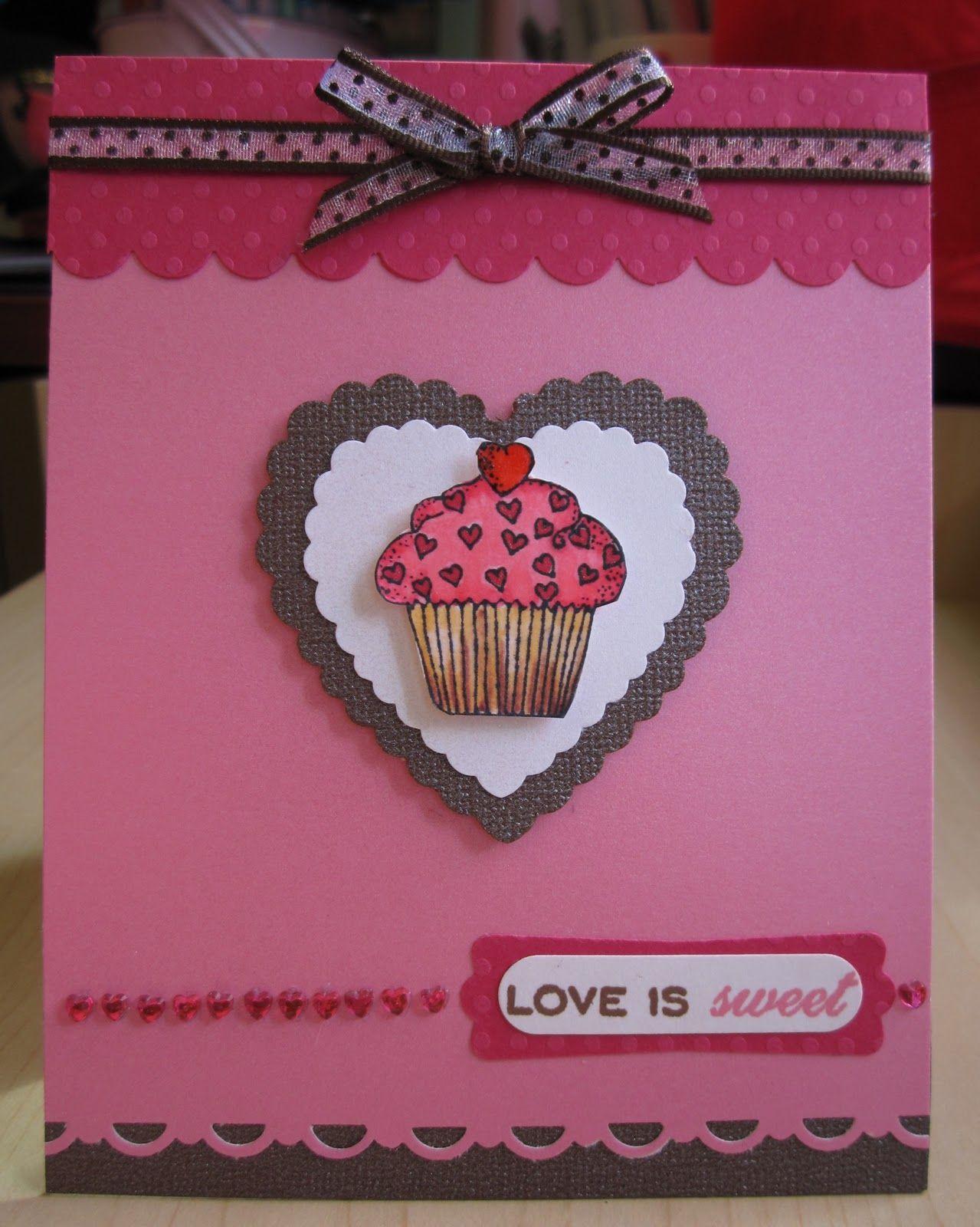Teadub design cupcake valentine card bridal shower ideas pinterest