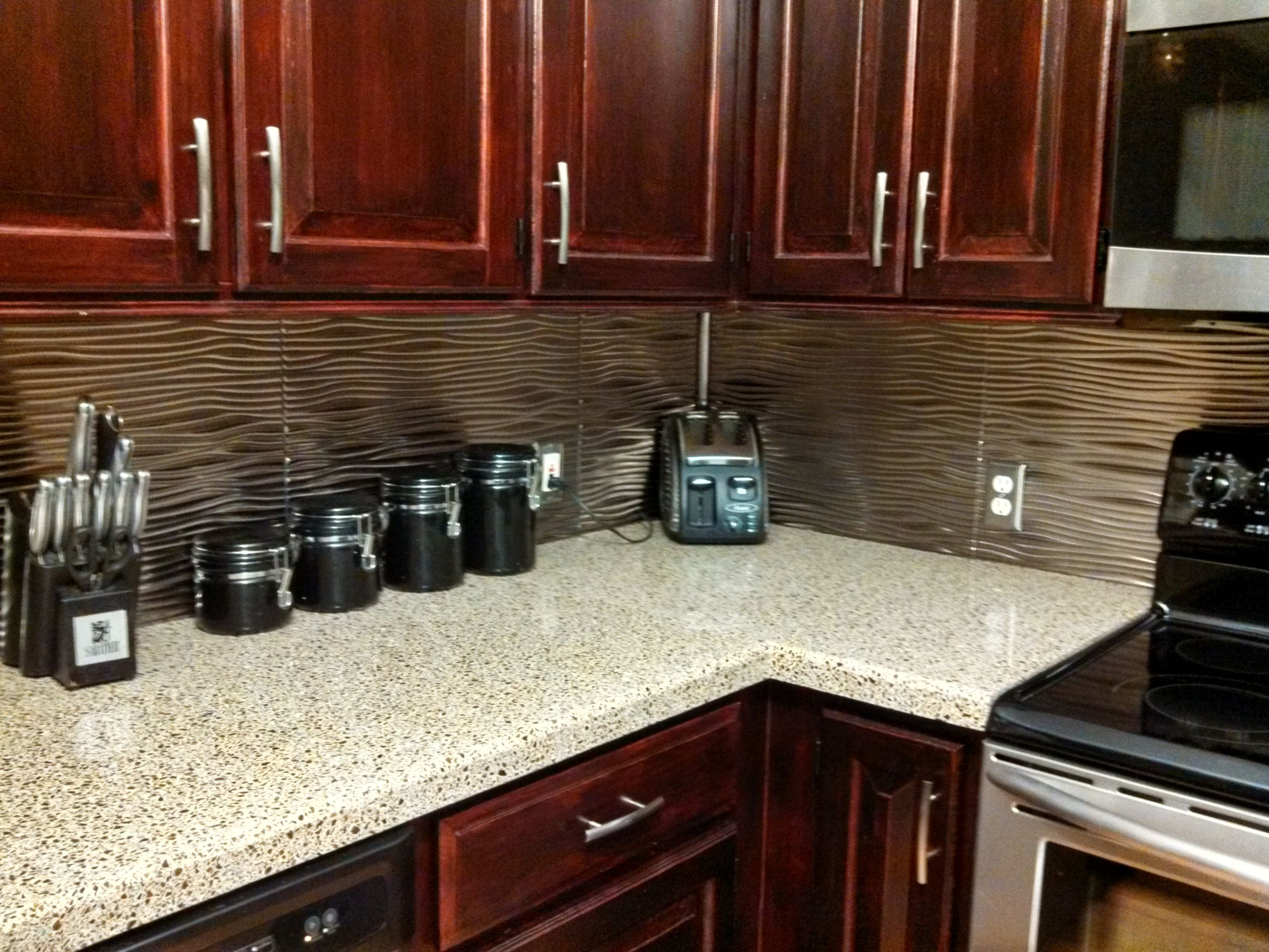 This Customer Chose Fasade Backsplash In Rings, Brushed Nickel. | New  Kitchen | Pinterest | Brushed Nickel And Kitchens