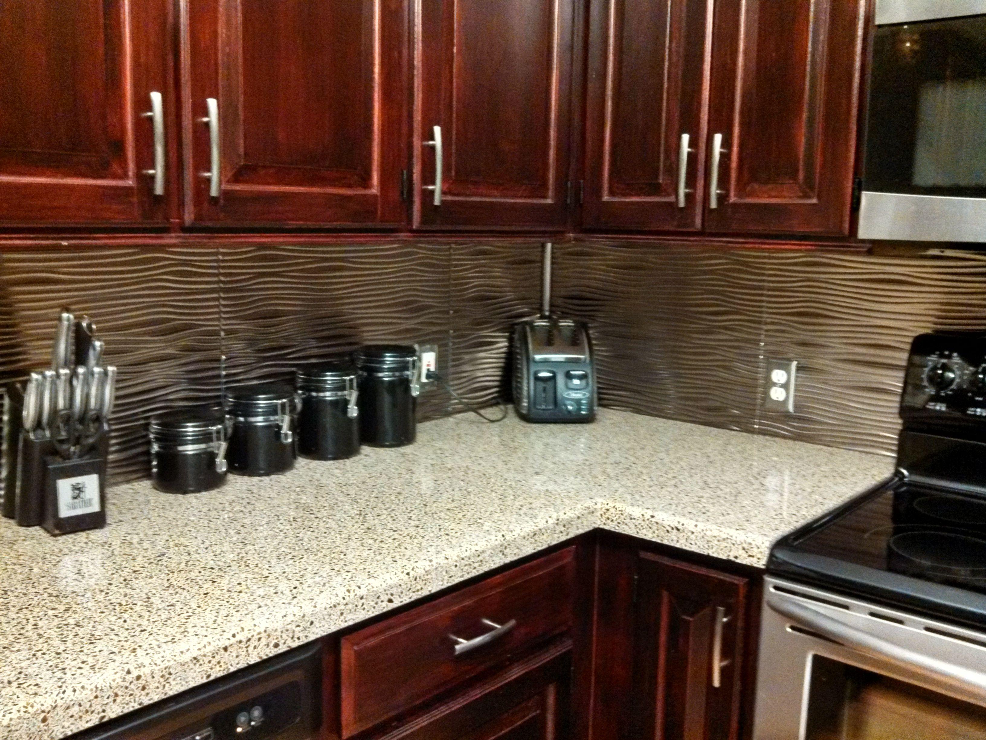Fasade Backsplash - Waves in Brushed Nickel | Kitchens, Kitchen ...