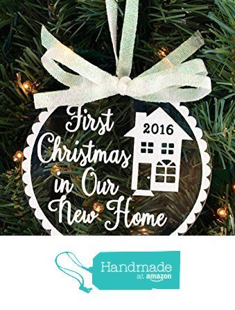 First Christmas In Our New Home Christmas Ornament First Home Ornament Christmas Ornaments Floating Ornaments Personalized Christmas Ornaments