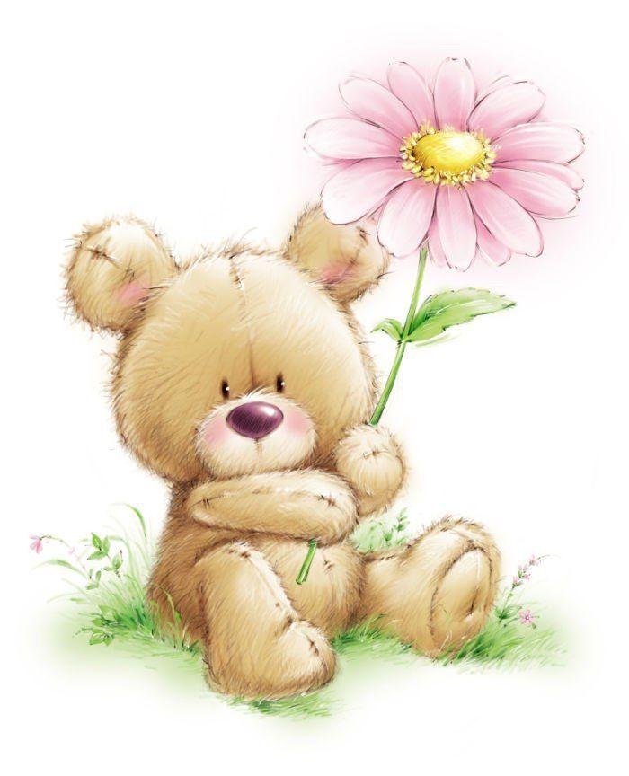 Вам, открытки с мишками и цветами с добрым утром