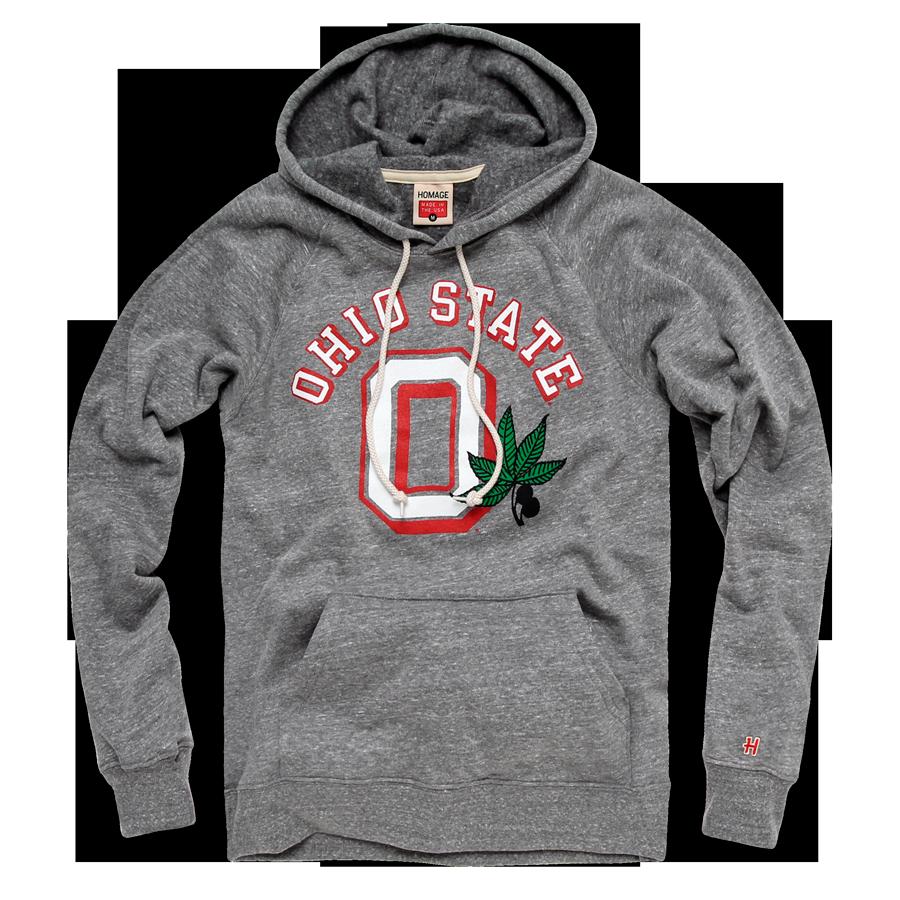 Homage Ohio State Buckeye Leaf Hoodie Fleece Sweatshirt 65 00 Ohio State Outfit Ohio State Ohio State Buckeyes [ 900 x 900 Pixel ]