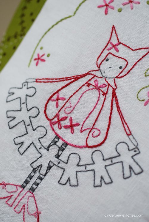 This gal has some great hand embroidery patterns and quilts.  Cute stuff, Cinderberry Stitches by Natalie Lymer