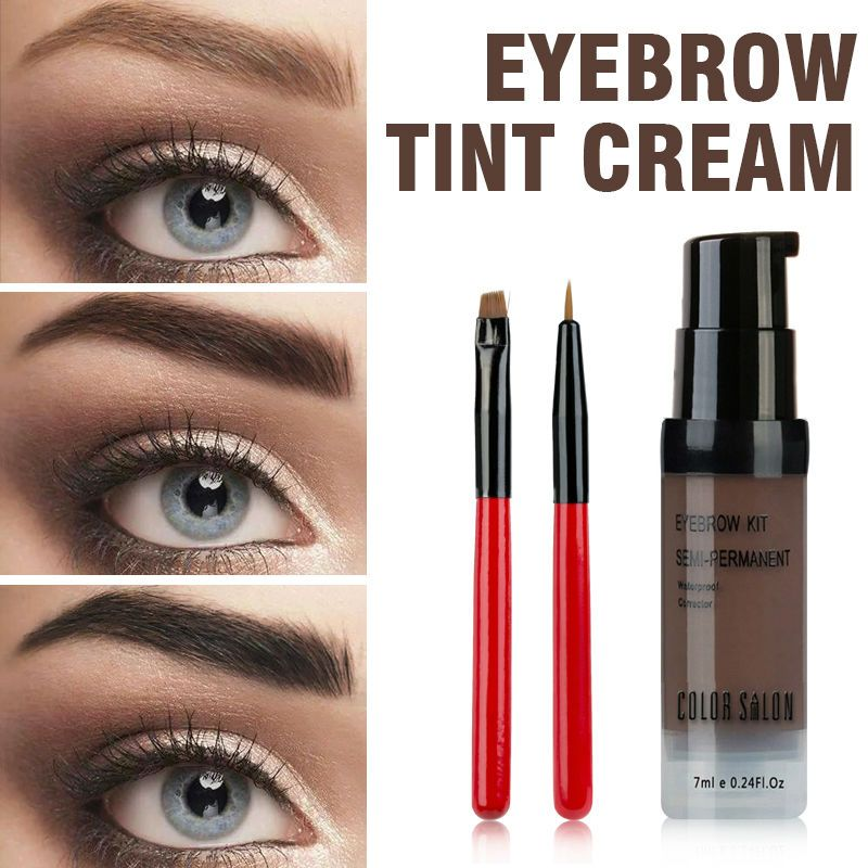 Price 4 Color Salon Eyebrow Pomade 7ml Makeup Tint Brush Kit Brown
