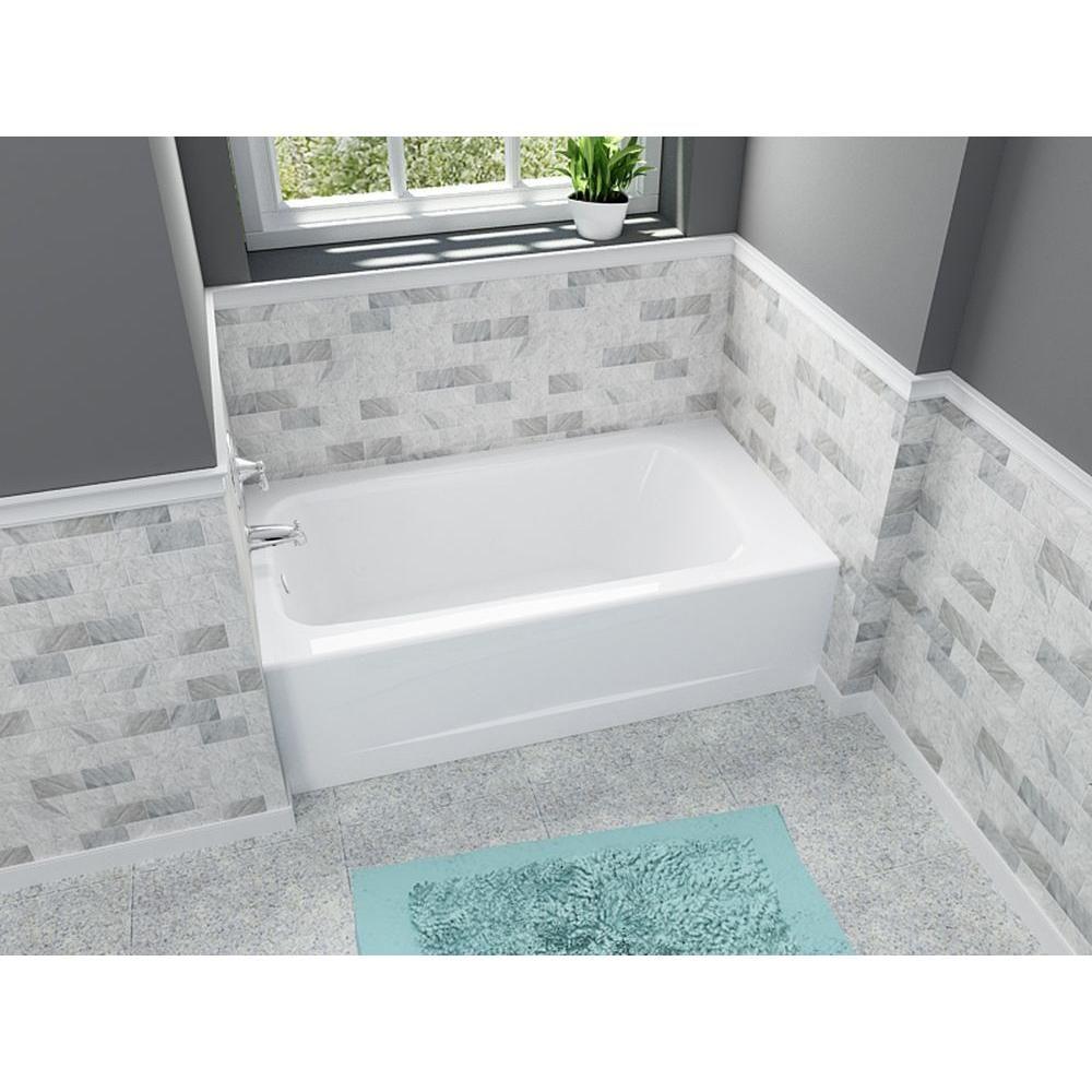 American Standard Cambridge 5 ft. Left Drain Bathtub in White ...
