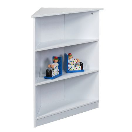 Gift Mark Corner Three Tier Bookcase With Top Shelf