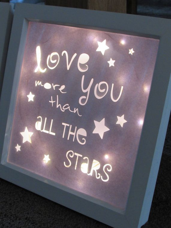 A Beautiful Light Up Box Frame Perfect For A Little Ones Nursery Or