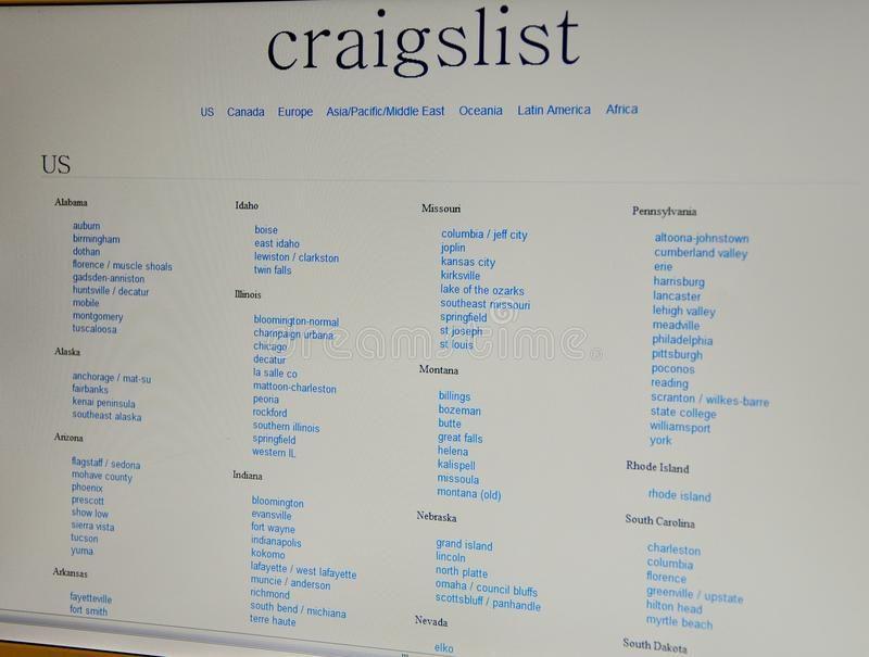 Craigslist website. Craigslist is a centralized network of ...