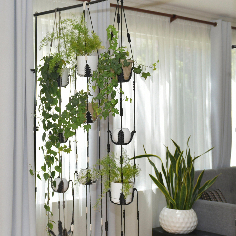 Adjustable plant hanger multiple plants display room | Etsy