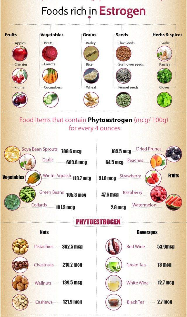 How to increase estrogen levels naturally | Estrogen rich ...