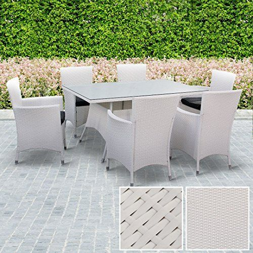 BillyOh Rosario Rattan Outdoor Dining Set Tempered Glass Top Table 6 ...