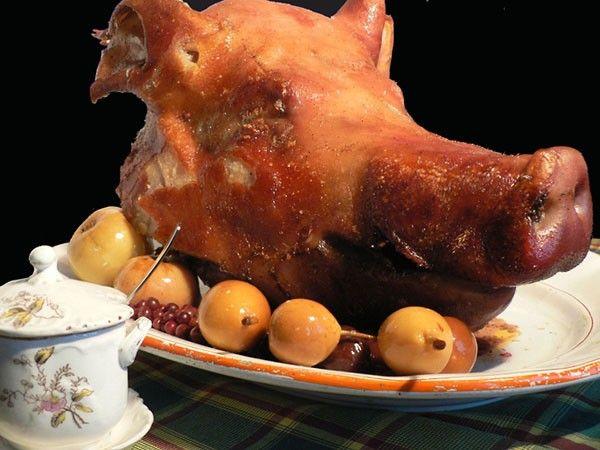как готовить голову свиную