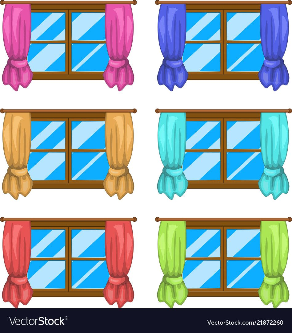 Cartoon window with curtains symbol icon design vector