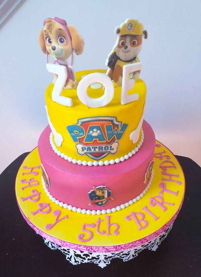 Happy 5thbirthday To Sweet Zoe Paw Patrol Birthday Cake By Style Me