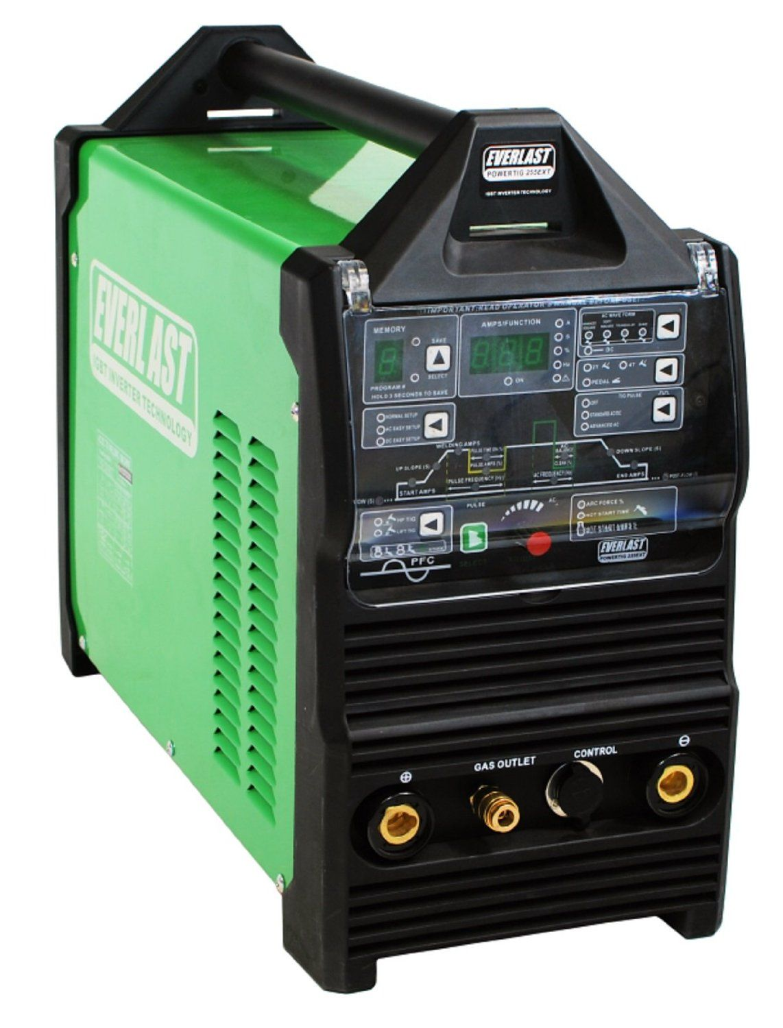 2015 Everlast PowerTig 255EXT DIGITAL AC DC TIG STICK