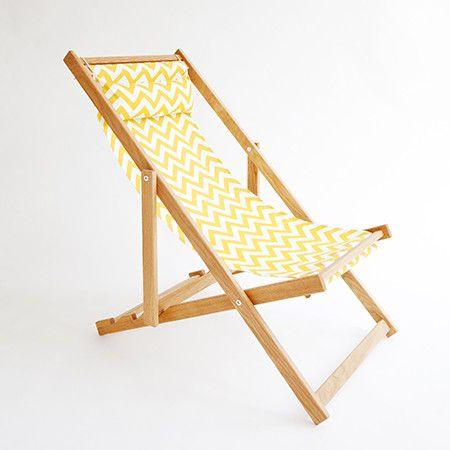 Yellow Chevron Deck Chair