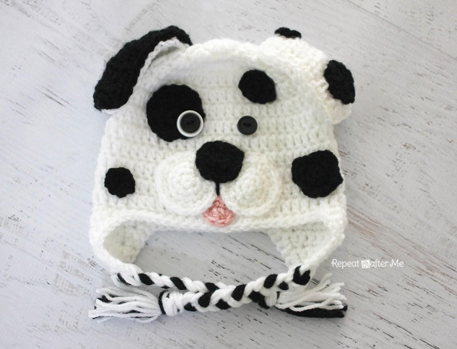 Crochet Dalmatian Dog Pattern (Repeat Crafter Me) | Dalmatian dogs ...