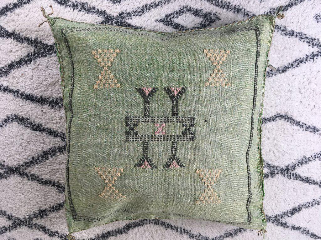 16x22 Moroccan cactus silk sabra pillow