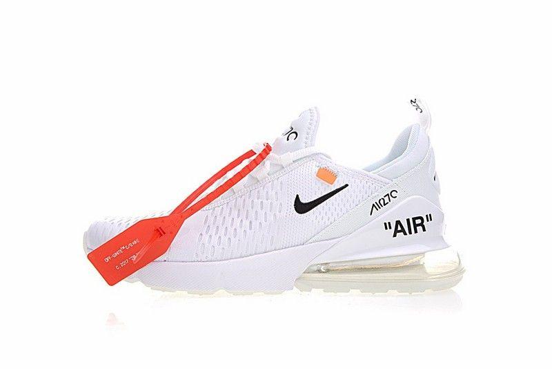 sports shoes dbb50 29993 Nike Uomini Air Max 270 AH8050 100 Triple Bianca