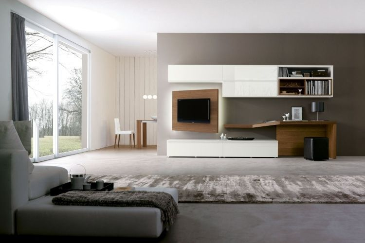 meubles de salon 96 id es pour l 39 int rieur moderne en photos superbes meuble tv tv et. Black Bedroom Furniture Sets. Home Design Ideas