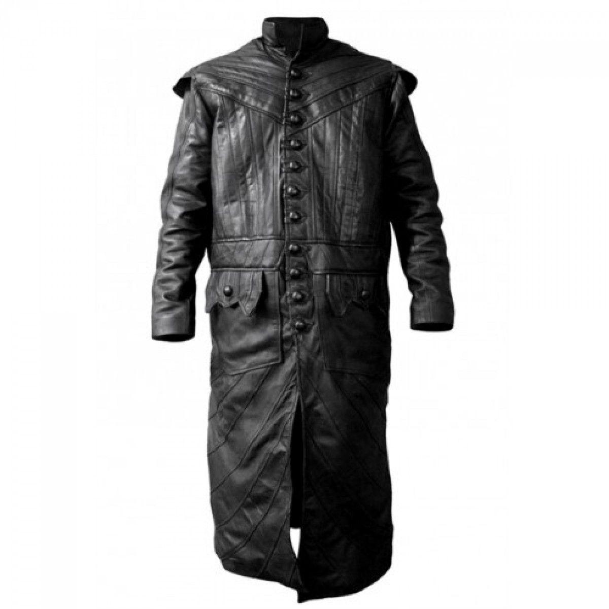 Black Sails Captain Flint Black Long Coat   Mens Leather Jackets ...