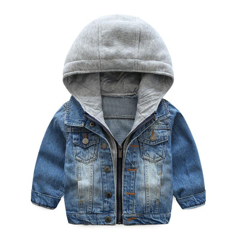 470e9833fd59 Autumn Boys Denim Jacket Kids Clothes Zipper Coat Soft Costume ...