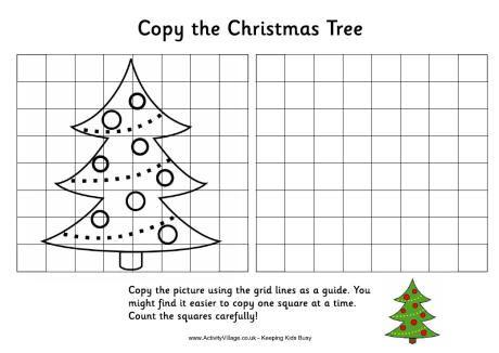 Christmas Tree Coloring Grid Amazing Design
